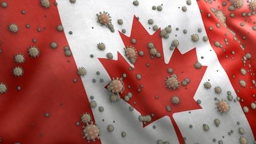 Covid Canada Flag / Corona Canada Flag