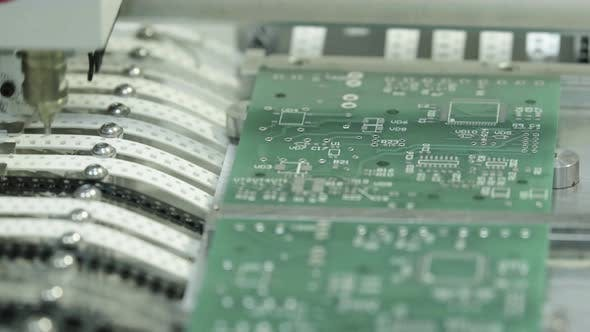 Thumbnail for Production of Electronic Board. Close-up.