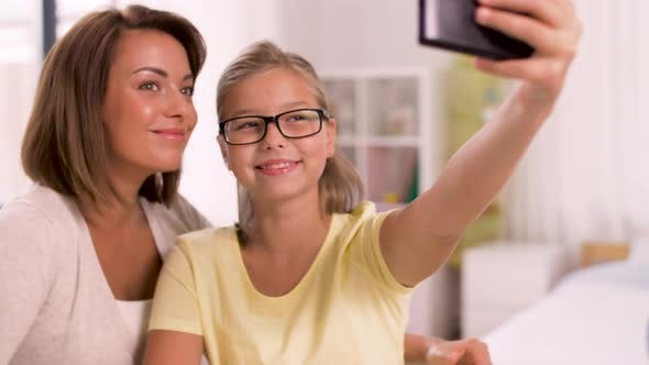 Thumbnail for Happy Family Taking Selfie By Smartphone at Home 20