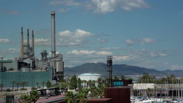 Thumbnail for Timelapse Footage of Power Station, Barcelona, Spain
