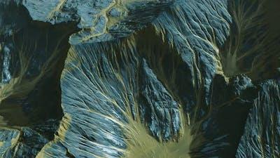 View of the Alien Planet Landscape
