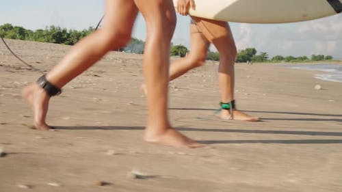 Sequence Of Female Surfers