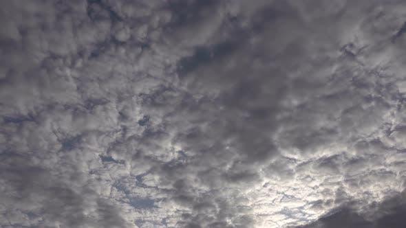Puffy Smoky Spring Cumulus Rain Clouds