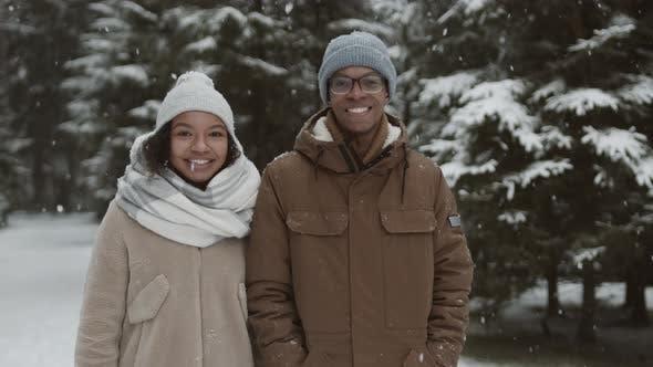 Portrait of Diverse Spouses in Park