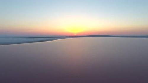 Sunrise On The Calm And Calm Lake