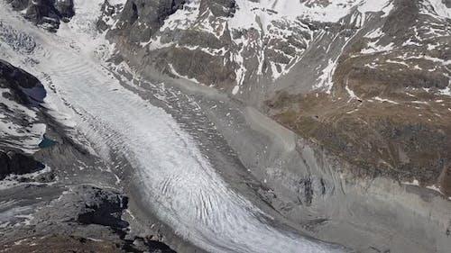 Aerial View of Morteratsch Glacier Switzerland