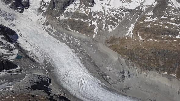 Aerial View of Morteratsch Glacier Switzerland