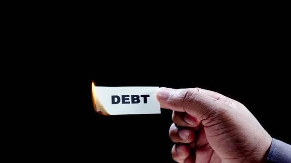 Burning Paper Writing Debt