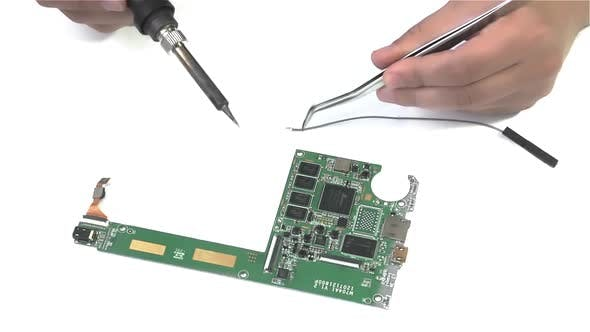 Thumbnail for Soldering PCB on White Background