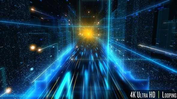 Thumbnail for 4K City Concept of Digital Streaming Network Technology