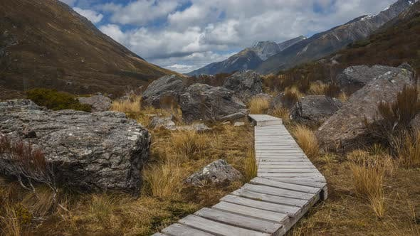 Thumbnail for Hiking trail in New Zealand