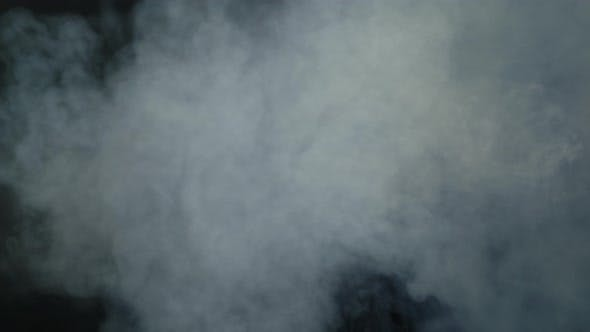 Thumbnail for Smoke From Above Against Black Background
