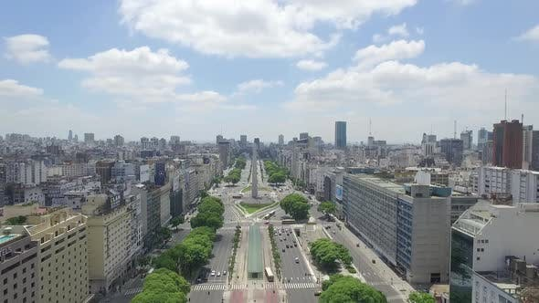Thumbnail for Aerial view of Buenos Aires - Obelisk - Argentina