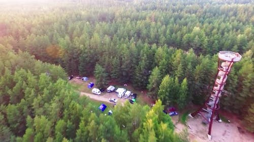 Camping In Lithuania Woods