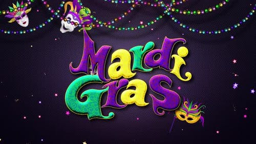 Mardi Gras Text Background