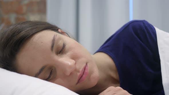 Thumbnail for Hispanic Woman Sleeping in Bedroom at Night