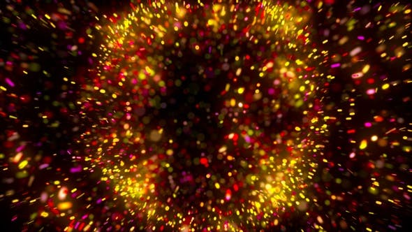 Colorful Particles Shockwave Explosion