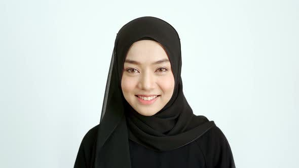 Thumbnail for Portrait of a Young Asian Muslim Woman 04