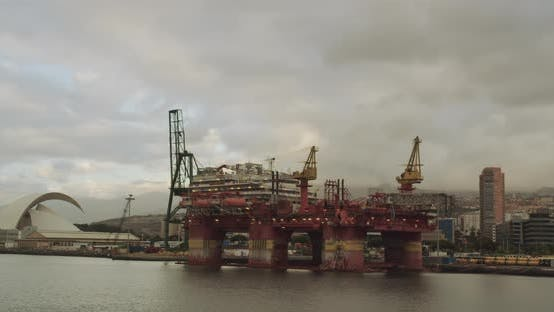 Thumbnail for Drilling Platform. Technology Nature Pollution