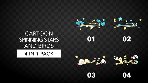 Thumbnail for Spinning Stars And Birds Pack