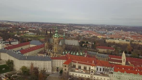 Thumbnail for Aerial View From the Air To St. Vitus Cathedral in Prague