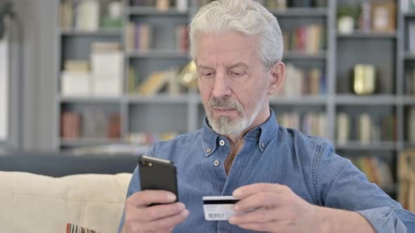 Thumbnail for Online Payment Via Smartphone By Old Man