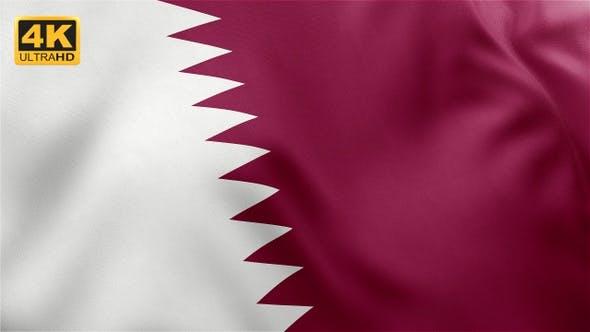 Thumbnail for Qatar Flag - 4K
