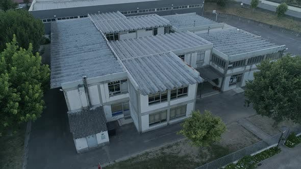 Dangerous Asbestos Roof in School