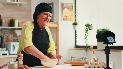 Aufzeichnung kulinarisches Rezept