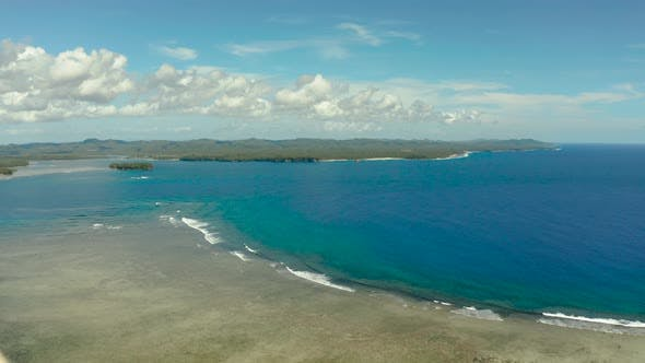 Thumbnail for Siargao Island and Ocean, Aerial View.