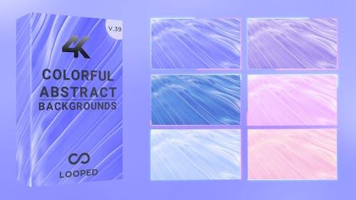 Farbwelle von elastischen Formen
