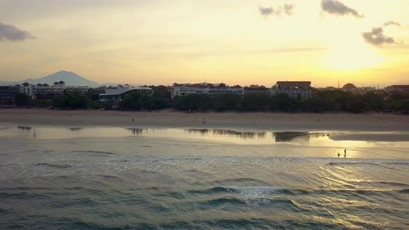 Thumbnail for Aerial Footage of Beautiful Beach, Hotels, Bali, Kuta.