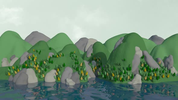 Thumbnail for Mountains Landscape Cartoon