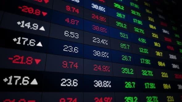 Thumbnail for Stock Market Exchange Ticker Board