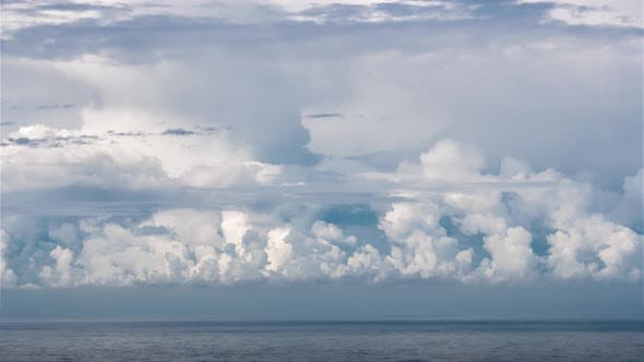 Thumbnail for Heavy Stormy Clouds Forming over Blue Ocean