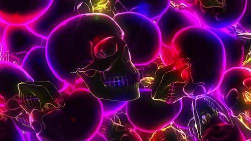 Skulls Vj Colorfull