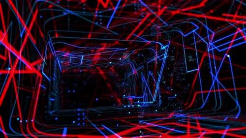 Laser Network Tunnel Light 04 4K