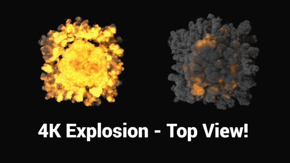 Thumbnail for Big 4K Explosion - Top View