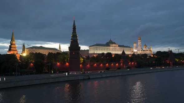 Thumbnail for Kremlin Embankment At Night. Moscow