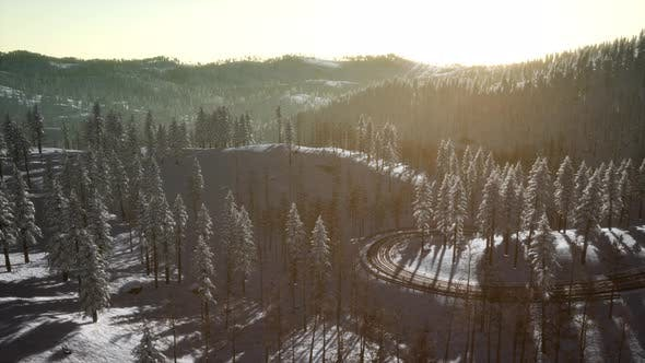Thumbnail for Mountain Landscape on a Winter Sunny Day
