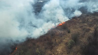Aerial View Spring Fires