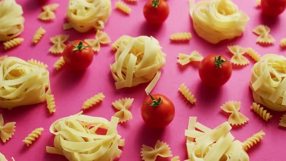 Thumbnail for Uncooked Pasta with Fresh Tomatoes