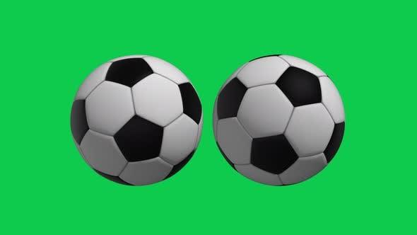 4K Soccer Balls Green Screen Background Seamless Loop V2