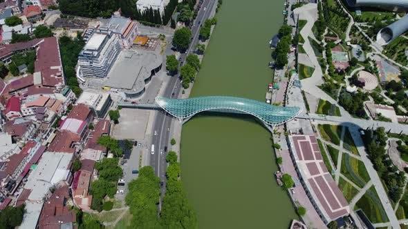 Bridge and River Aerial