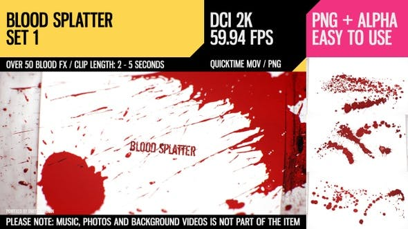 Thumbnail for Blood Splatter (HD Set 1)