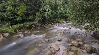 Waterfall and river at Sungai Sedim, Kedah, Malaysia.