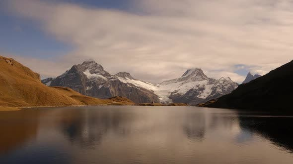 Thumbnail for Picturesque View on Bachalpsee Lake in Swiss Alps Mountains