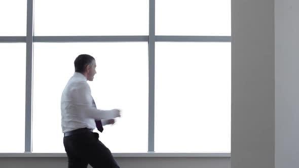 Thumbnail for Happy Businessman Dances with Joy