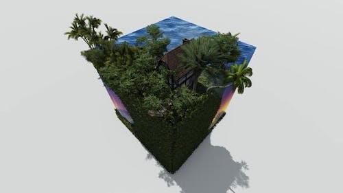 Rural beach isometric