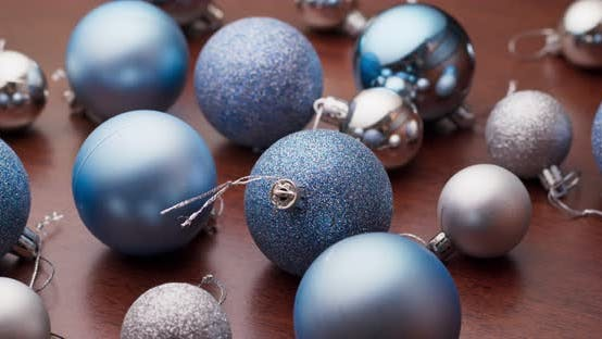 Thumbnail for Christmas decoration ball in blue